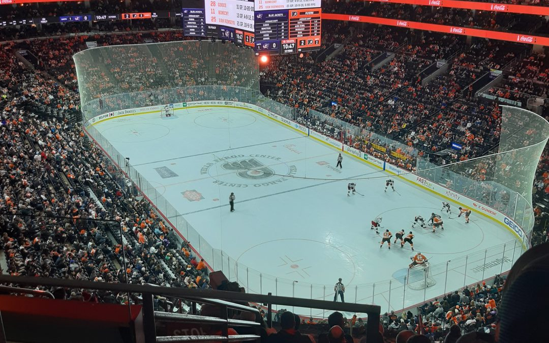 Philadelphia Flyers take on the Columbia Bluejackets