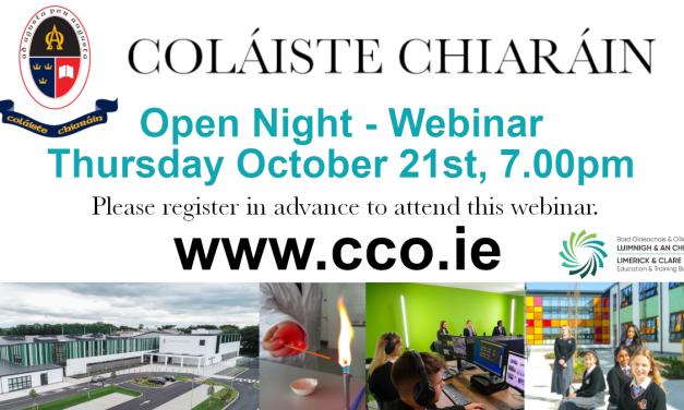 Open Night Webinar / Enrolment 2022